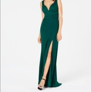 Emerald Green Maxi Formal / Prom Dress